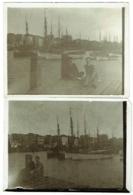Foto/Photo. Blankenberghe, Port Et Bateaux De Pêche, 1927. Lot De 2 Photos. - Lieux