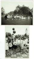 Foto/Photo. Stade Solvay. Enfants Et Ballons Coca-Cola. 1932. Lot De 2 Photos. - Places