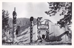 RP: Entrance To Chief's Shakes House , WRANGELL , Alaska , 30-40s - Native Americans