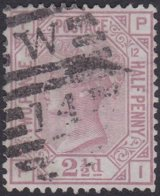 England  .   SG   141  .   Pl.  12   ( 2 Scans ) .  Wmk  Orb     .  O   .    Cancelled .   /   .   Gebruikt - Oblitérés