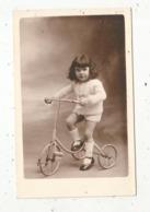 Photographie GREFFET , Poitiers , Petite Fille Sur Son Vélo - Anonyme Personen