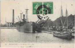 """D17 - ROCHEFORT SUR MER - LE BASSIN N° 2 - Bateau """"Quickstep"""" - Voilier - Wagons - Rochefort"""