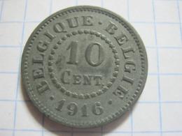 10 Centimes 1916 - 1909-1934: Albert I