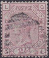 England  .   SG   141  .   Pl.  13   ( 2 Scans ) .  Wmk  Orb     .  O   .    Cancelled .   /   .   Gebruikt - Oblitérés