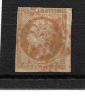 France N°13B Oblitéré Etoile Rouge Cote 190€ Standard. - 1853-1860 Napoléon III