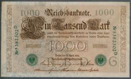 P45b Ro 46b DEU-69b  7 Chifres N°5382302D *** AUNC *** Lettre  G  1000 Mark 1910 - [ 2] 1871-1918 : German Empire