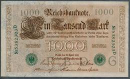 P45b Ro 46b DEU-69b  7 Chifres N°5382303D *** AUNC *** Lettre  G  1000 Mark 1910 - [ 2] 1871-1918 : German Empire