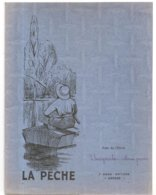Couverture De Cahier De 1949 La Pêche Imprimerie T. Adam à Poitiers - Sport