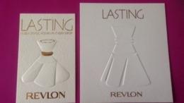 LASTING   REVLON   2 CARTES - Cartes Parfumées