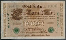 P45b Ro 46b DEU-69b  7 Chifres N°5382304D *** AUNC *** Lettre  G  1000 Mark 1910 - [ 2] 1871-1918 : German Empire