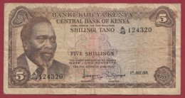 Kenya  5 Shillings  Du 01/07/1971  Dans L 'état  (166) - Kenia