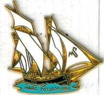 Pin's Bateau Voilier Navire Marc Potiron 1993 - Barcos