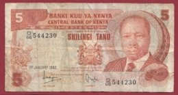 Kenya  5 Shillings  Du 01/01/1982  Dans L 'état  (168) - Kenia