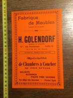 1924 PUBLICITE FABRIQUE MEUBLES GOLENDORF CITE BEAUHARNAIS PARIS MAURICE SFARTZ - Colecciones