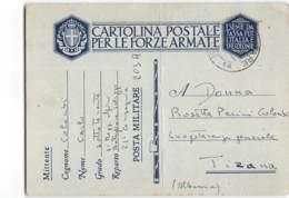 AG1685 01 POSTA MILITARE 14 - 2 REGGIMENTO ALPINI BATT. SALUZZO PM 203A X TIRANA ALBANIA - PIEGA CENTRALE - 1900-44 Victor Emmanuel III