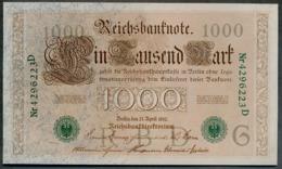 P45b Ro 46b DEU-69b  7 Chifres N°4296223D *** UNC *** Lettre  G  1000 Mark 1910 - [ 2] 1871-1918 : German Empire