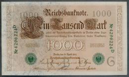 P45b Ro 46b DEU-69b  7 Chifres N°4296224D *** UNC *** Lettre  G  1000 Mark 1910 - [ 2] 1871-1918 : German Empire