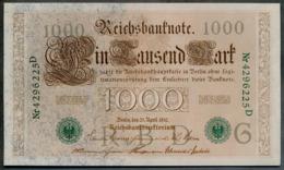 P45b Ro 46b DEU-69b  7 Chifres N°4296225D *** UNC *** Lettre  G  1000 Mark 1910 - [ 2] 1871-1918 : German Empire