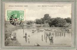 CPA -TOUMANEA (Guinée Occidentale Française) - Le Gué-abreuvoir Du Tinkisso En 1910 - Pêche Avec Une Horde De Rabatteurs - Guinée Française