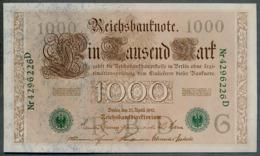 P45b Ro 46b DEU-69b  7 Chifres N°4296226D *** UNC *** Lettre  G  1000 Mark 1910 - [ 2] 1871-1918 : German Empire