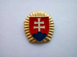 Slovak Slovakia Army Hat Cap Badge - Officer - Cascos