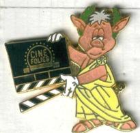 Pin's Cinéma Clap Ciné Folies Cochon Porc Pig Pork (1) César Empereur Romain - Films