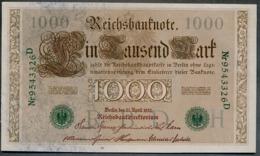 P45b Ro 46b DEU-69b  7 Chifres N°9543436D *** AUNC *** Lettre  H  1000 Mark 1910 - [ 2] 1871-1918 : German Empire