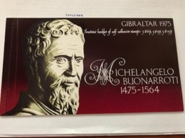Gibraltar Michelangelo Booklet Mnh 1975  #ab - Gibraltar