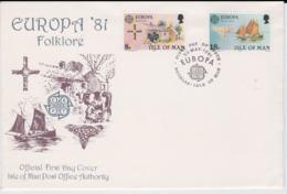 Isle Of Man 1981 FDC Europa CEPT (G76-141) - Europa-CEPT