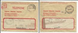 Suisse, 2 Télégrammes Lausanne - Pully (1958) - Télégraphe