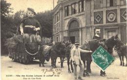 Carte  POSTALE ANCIENNE De REIMS - Fête Des écoles Laiques, Char Du Chat Botté 19 Juillet 1914 - Reims