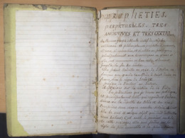 Texte Manuscrit 1770 - PROPHETIES PERPETUELLES De THOMAS JOSEPH MOULT - - Religión & Esoterismo