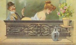 """HUMOUR ÉROTIQUE  """"ÉROTISME 1900 N° 9 EDITION NUGERON  COLLECTION BOUGERON  CARTE A SYSTÈME - Humor"""