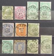 Belgique Belgium Belgie Lot De Timbres Anciens Oblitérés - BELLES OBLITERATIONS - R105e9280 - Bélgica