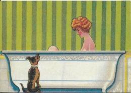 """HUMOUR ÉROTIQUE  """"ÉROTISME 1900 N° 6 EDITION NUGERON  COLLECTION BOUGERON  CARTE A SYSTÈME - Humor"""