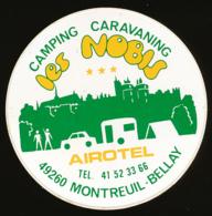 AUTOCOLLANT, STICKERS : MONTREUIL-BELLAY (Maine-et-Loire), Camping-Caravaning Les Nobis, Airotel - Autocollants
