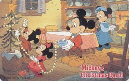 Télécarte Japon / 110-149075 - DISNEY - Série NOEL 4/25 - CHRISTMAS Series MICKEY Japan Phonecard - Scheda Tel. - Disney