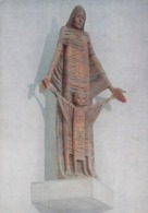 Postcard Liverpool Roman Catholic Cathedral Statue Our Lady And The Child Jesus By Robert Brumby My Ref  B23831 - Monuments