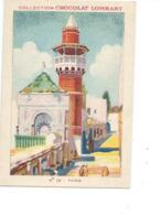Chromo TUNISIE TUNIS Mosquée De La Kasbah Colonies Françaises Pub: Chocolat LOMBART Bien Voir  2 Scans - Lombart