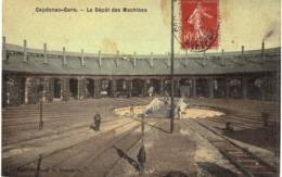 Carte  POSTALE  ANCIENNE De CAPDENAC - GARE /  Dépot Des Machines - Autres Communes