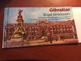 Gibraltar Royal Residences Booklet Mnh 1978 - Gibraltar