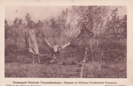 Hunting Party, Large Bird, AOF, 1910-20s - Hunting