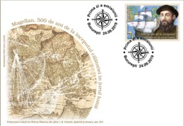 ROMANIA 2019: MAGELLAN 500 YEARS 1 FDC - Registered Shipping! Envoi Enregistre! - Esploratori