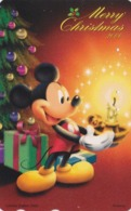Télécarte Japon / 110-212253 - DISNEY - NOEL 2000 - MICKEY Sapin Bougie - CHRISTMAS Japan Phonecard - Disney