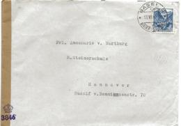 221 - 42 - Enveloppe Envoyée De Suisse à Hannover 1949 - Censure - Zona Anglo-Américan