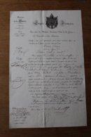 Empire Français Armée D'Orient 91 E De Ligne 1855  Officier Mr Landry De Saint Aubin - Documentos Históricos