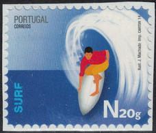 Portugal 2014 Non Oblitéré Sur Fragment Used Stamp Sports Extrêmes Surf - 1910-... République