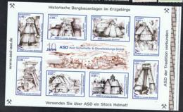 Privatpost ASD Aue Block 1 Mit Den Marken 13-20 Postfrisch Xx : 06.03.2006 Besucherbergwerk Stollen Pöhla - Deutschland