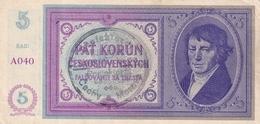 Czechoslovakia Protectorate Protektorát 5 Korun  AUNC - Czechoslovakia