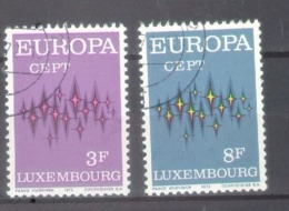 Luxembourg 1972; Europa Cept, Michel 846-847, Used. - 1972